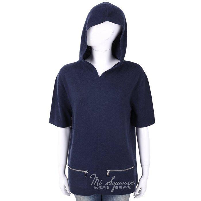 米蘭廣場 ALLUDE 喀什米爾深藍色連帽羊毛針織衫 1740256-34
