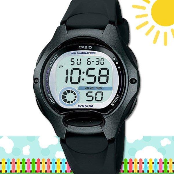 CASIO 時計屋 卡西歐手錶 LW-200-1B 數字錶 兒童錶 球面玻璃 保固 附發票