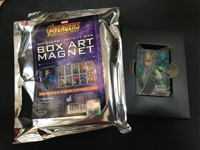 全新 Hottoys infinity war box art magnet 封面 盒 磁石 Tree 樹人