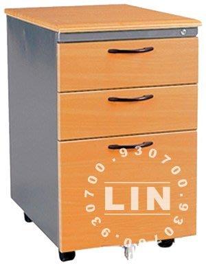 【品特優家具倉儲】◎P322-03活動櫃資料櫃木紋深灰邊活動櫃
