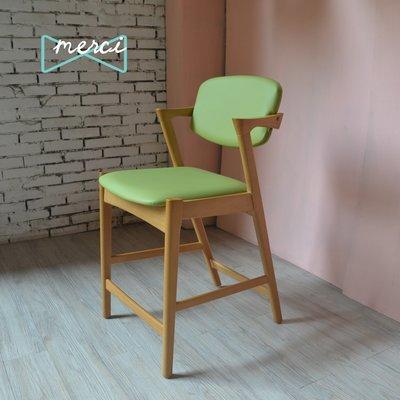 美希嚴選 Sherlock 夏洛特吧椅/吧台椅/坐感佳適合長使用使用/flap-back  /皮革/荔技紋綠皮革
