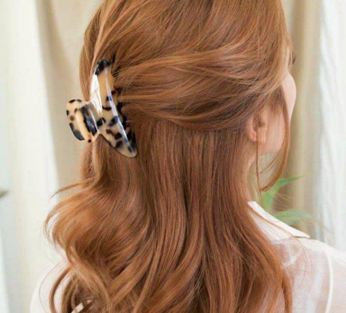 韓國飾品  玳瑁款式 中型髮夾 抓夾 9.5*5