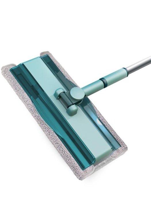 拖把 澄果懶人旋轉木地板夾布平板拖把家用瓷磚地干濕兩用免手洗一拖凈