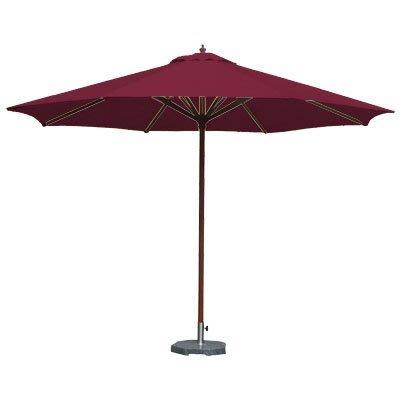【舒福家居】7尺木傘/庭園傘/戶外遮陽傘/印尼木/台灣製防潑水布/酒紅色
