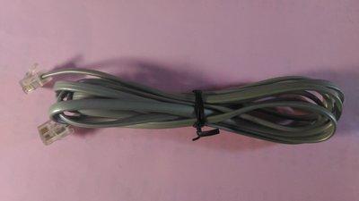 [3C線材] 全新品 四芯 電話線 兩端水晶頭 RJ11 Telephone Cable (長1.5~2.0M) 灰色