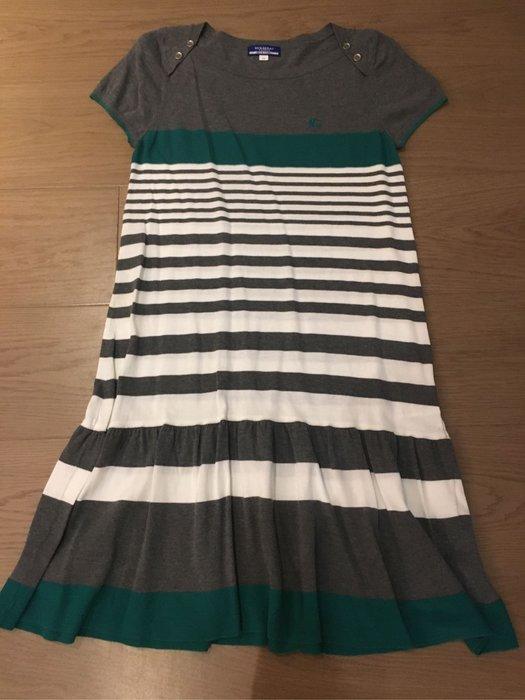 日本 藍標 Burberry 綠白橫條洋裝