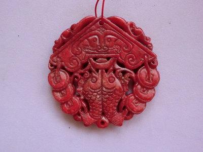 玉石雕:鯉躍龍門