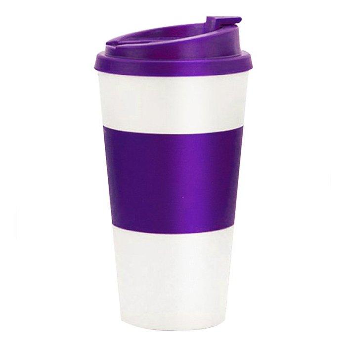 奇奇店-雙層塑料咖啡杯簡約便攜創意車載隨手杯學生耐摔禮品水杯子#小清新 #可愛呆萌 #食品級材質