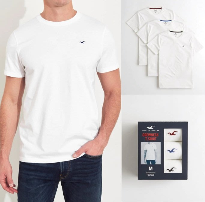 Hollister HCO 海鷗 素T 短袖T恤 套裝組合 現貨 美國姐妹屋 白色