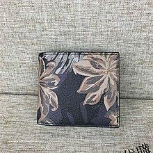 NaNa代購 COACH 75296 皮夾 短夾 印花 配可拆卸卡包 新款 時尚新穎 附購證