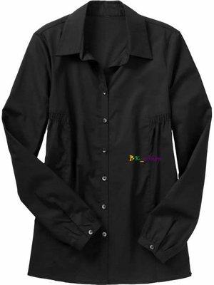 【美衣大鋪】☆ OLD NAVY 正品☆Smocked Button-Front 寬版黑色襯衫