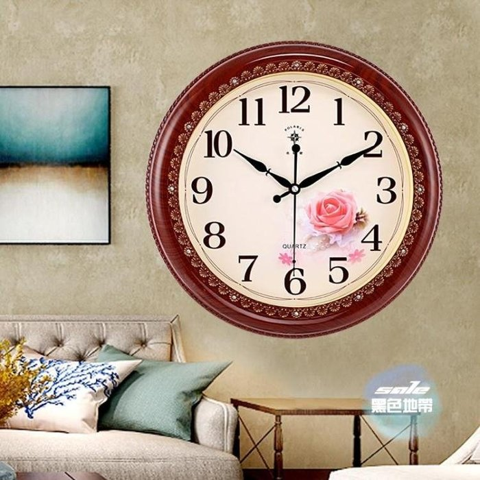 免運 可開發票 掛鐘 歐式復古靜音客廳臥室掛鐘創意簡約石英鐘錶經典中式掛錶 4色 〖桃子雜貨鋪〗