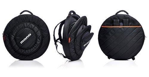 《民風樂府》MONO專業銅鈸袋 全方位保護性 5層獨立夾層 最大到22吋 外出表演樂手最佳選擇 M80-CY22-BLK