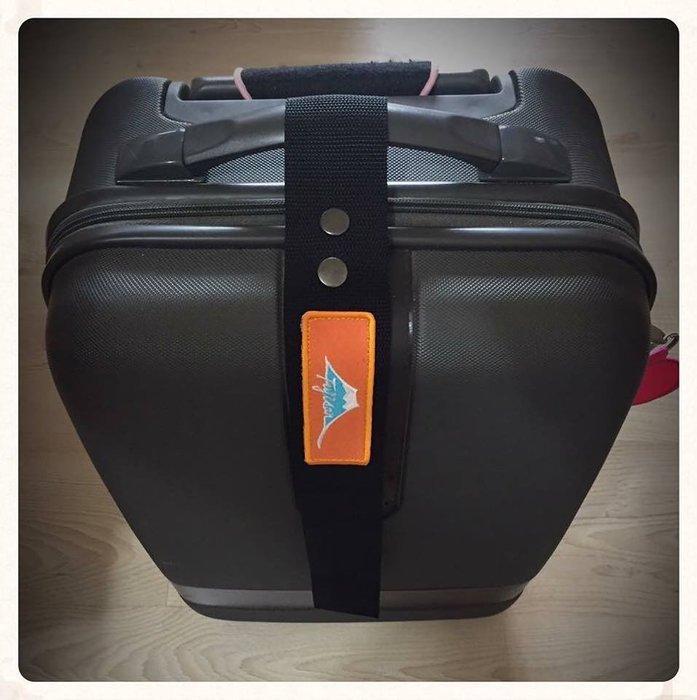 EmbroFami 客製富士山馬拉松FujisanMarathon 行李飄帶itag plus (布標+名字,2條)