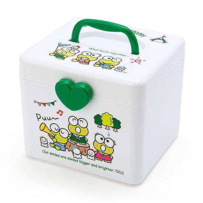 X射線【C474235】大眼蛙 Keroppi 收納提箱M-晴天娃娃,置物櫃/收納櫃/收納盒/抽屜收納盒/收納箱/桌上收