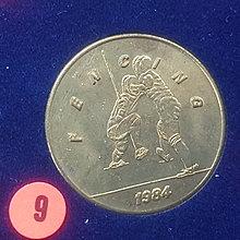 ☆承妘屋☆1984年美國洛杉磯奧林匹克運動會奧運紀念章 ~ZAB.西洋劍.9