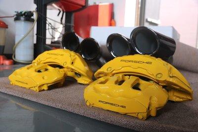 Porsche Cayenne E3 卡鉗烤漆~紅色 GTS TURBO 黃色陶瓷顏色~Hybrid 螢光綠 MACAN