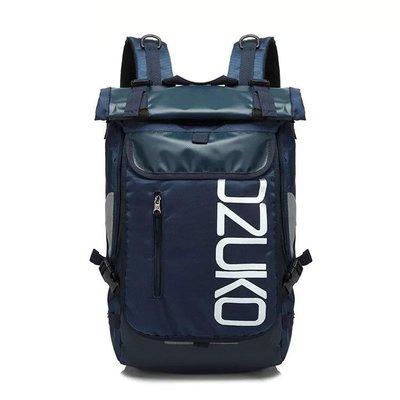 【OTOKO Men's Boutique】 日系藍色雙肩包/後背包/運動休閒包/藍色