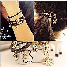 晶華屋--高彈性金属髮繩/ 多用途雙層合金皮筋手飾/髮飾(不挑款)