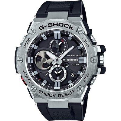 (全新公司貨 附發票)卡西歐G-SHOCK 藍牙連線太陽能計時錶GST-B100-1A 黑 原廠正品
