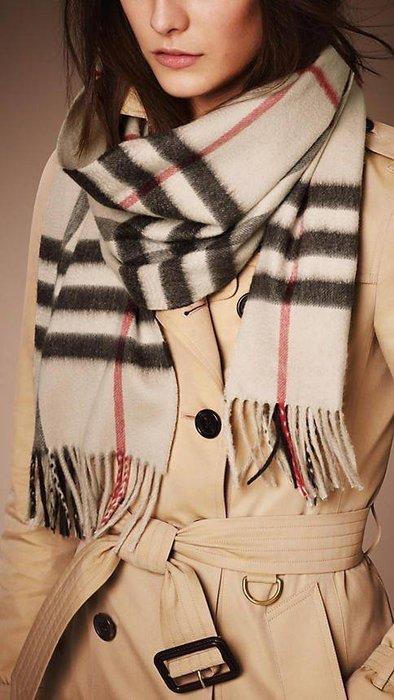 【代購】Burberry 喀什米爾 經典圍巾