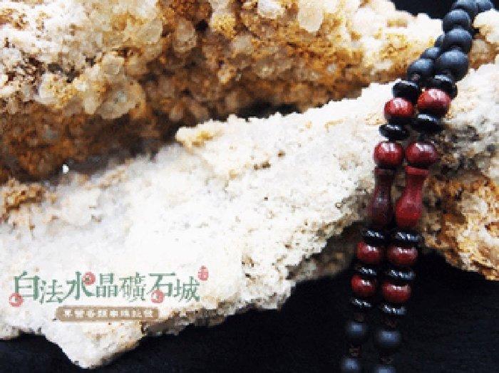 白法水晶礦石城    手工製作 黑瓷珠&木珠&金剛結& 寶瓶 鍊寬6mm 項圈 項鍊   首飾材料