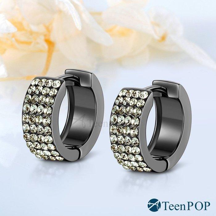 耳環 ATeenPOP 白K 圈式耳環 華麗耀眼 多款任選 易扣 滿鑽耳環 AG7021