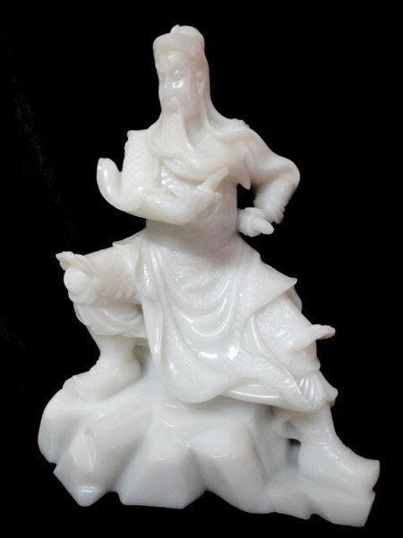 *藏雅軒*早期收藏-天然玉石-珍藏老件-白玉雕件-關公