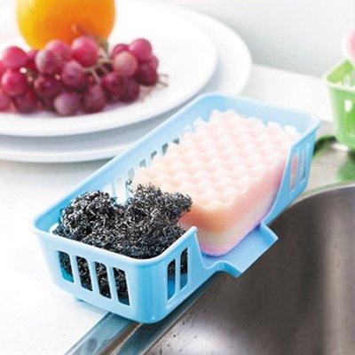 炫彩 餐具架 水槽 多用 洗碗 海綿 瀝水架 收納籃 多功能 碗盤架 收納 ❃彩虹小舖❃【S39】