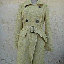 jacob00765100 ~ 正品 La Feta 芥末黃色 長大衣/外套 size: 38