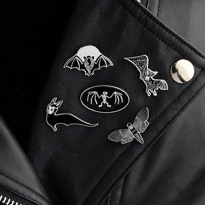 別針胸針配飾琺瑯胸針歐美新款蝙蝠復古別...
