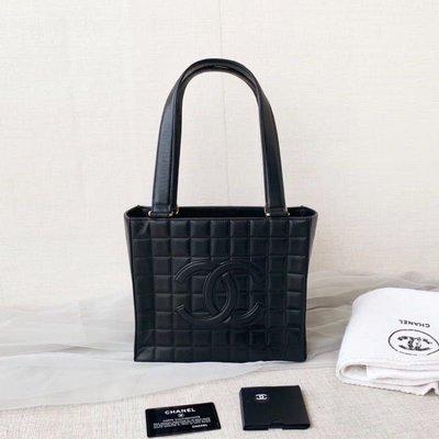 日本中古二手💕💕香奈兒vintage Chanel康朋方格單肩包腋下包(夢露🇰🇷🇯🇵現貨實拍)