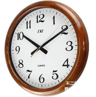 【格倫雅】^XL歐式實木掛鐘 客廳時鐘 現代靜音田園石英鐘表精工芯16767[g-l-y34