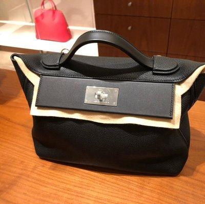 J-Shop Luxury 精品店 hermes 2424 29cm 黑色 銀釦 D刻