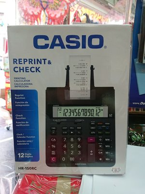 Casio HR150RC 出紙計算機 大計數機 printing Calculator