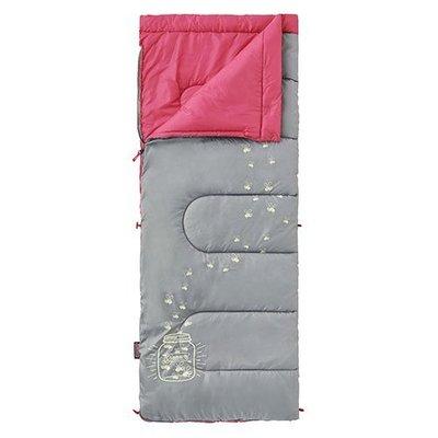【大山野營】Coleman CM-22263 夜光型桃紅兒童睡袋/C7 纖維睡袋 中空纖維中空纖維 全開信封式