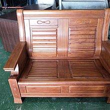 二手家具全省估價(大台北冠均 新五店)二手貨中心--通風耐用實木椅2人木沙發 兩人木製沙發 二人沙發SO-9080704