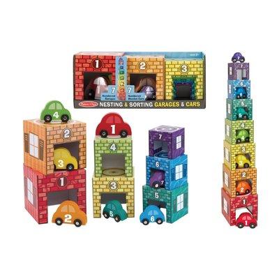 【晴晴百寶盒】美國進口數字與配對學習立體停車場 Melissa&Doug扮演角系列生日禮物家家酒 益智遊戲玩具W673