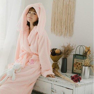 浴袍睡袍  卡通睡衣法蘭絨睡袍珊瑚絨浴袍可愛情侶家居服