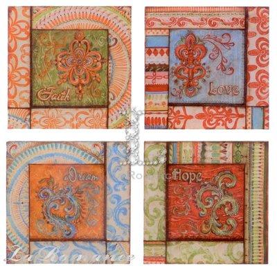 【Creative Home】Bohemian Bazzar 波西米亞系列帆布裝飾壁畫 (共四款)