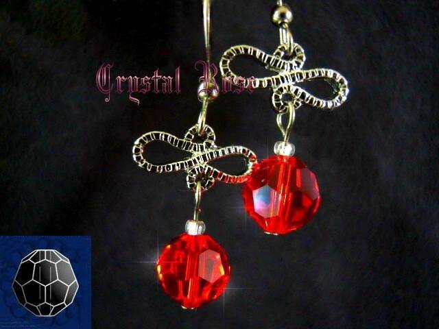 ※水晶玫瑰※ SWAROVSKI 8mm水晶珠 耳勾式針式耳環(DD341)~出清~三對免郵