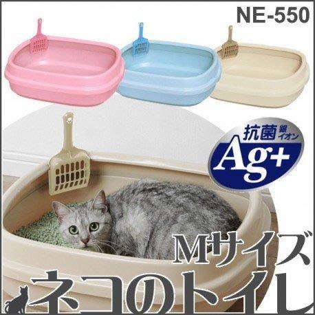 COCO《胖貓便盆》IRIS單層貓砂盆(大)NE-550(三色可選)附貓砂鏟、貓砂盆~可搭配PEC-902、903貓籠