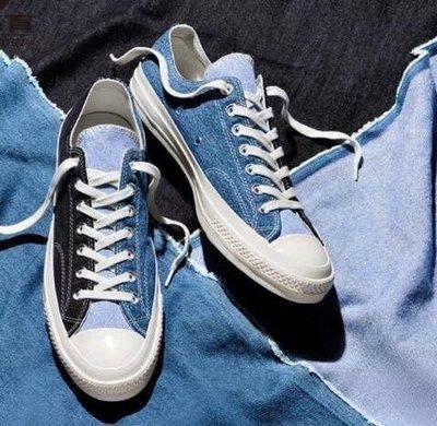 匡威 新款 Converse Chuck 1970s 頂級硫化工藝 帆布鞋 牛仔布拼接 Converse Renew