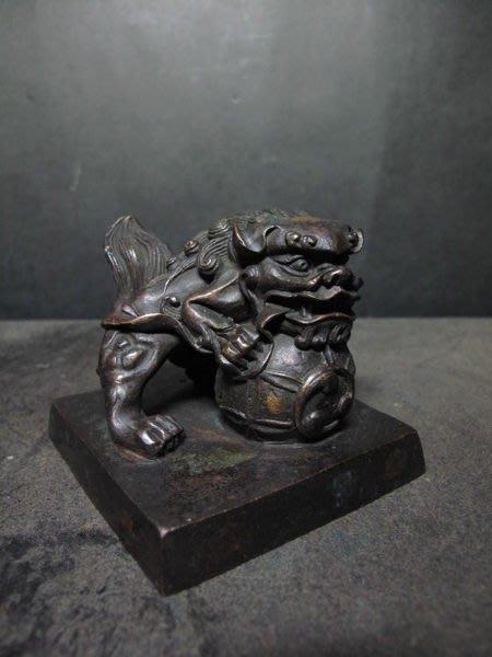 老銅雕◎   祥獅大銅印