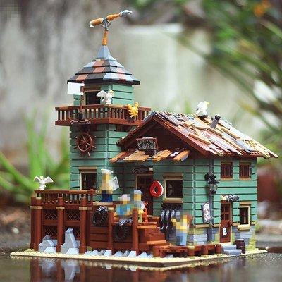 現貨在台 SY1147 小漁屋 老舊漁具屋 老漁屋海邊小屋 城市CITY釣具店 非樂高Lego21310 樂拼16050