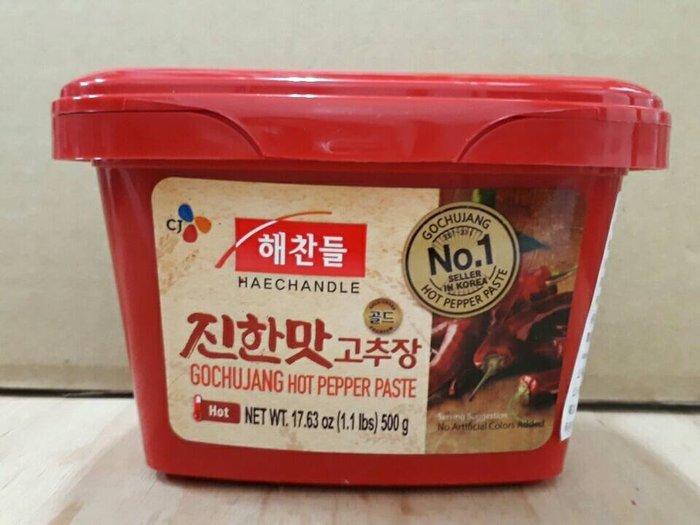 新到貨【韓國進口辣椒醬】500g~特價一盒130元(賣場購物滿800元免運費)