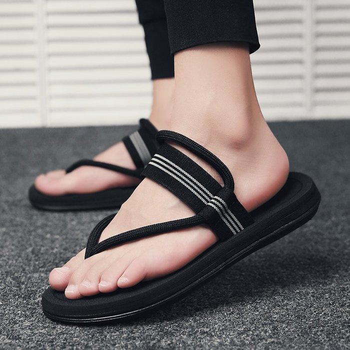 6Du spot~香港2020新款涼鞋男夏時尚外穿潮流男士沙灘人字拖鞋兩穿夾腳涼拖