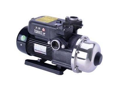 「工廠直營」大井 WALRUS TQ-800 1HP 塑鋼加壓機 抽水馬達 不生鏽加壓機 電子穩壓機 加壓馬達