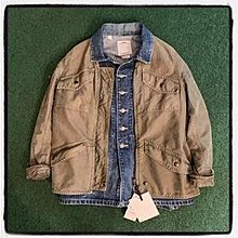 VISVIM MORNING STAR JKT (DMGD CHINO) - OLIVE SIZE 1