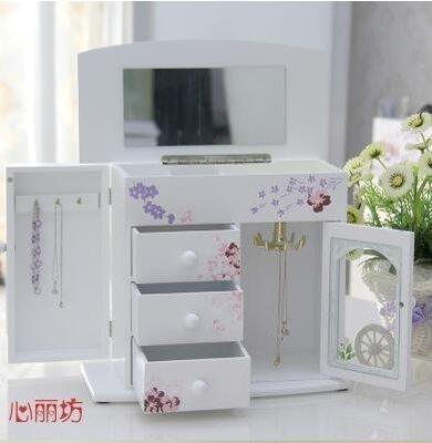 【優上】首飾盒木質 手飾品公主項鍊盒子歐式收拾收納盒韓國戒指盒子